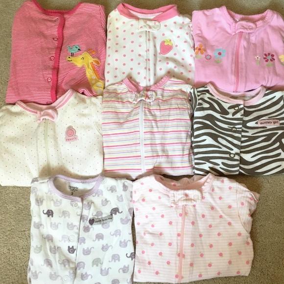 47c83e516 Carter's & Gerber Pajamas | Bundle Baby Girl 3 Months | Poshmark